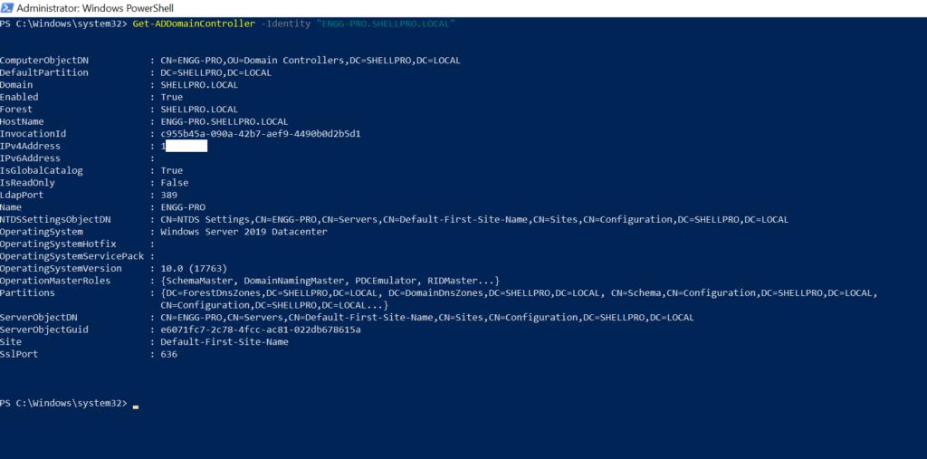 PowerShell Get-AdDomainController