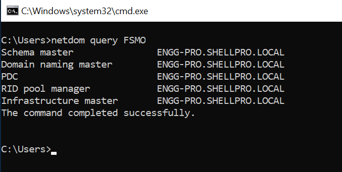 Netdom Query FSMO Roles
