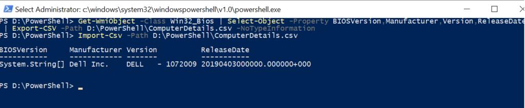 PowerShell Export to CSV file