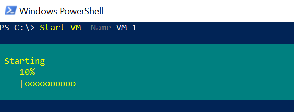 Start-VM - Start Virtual machine